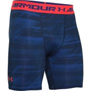 Under Armour Men's ColdGear Compression Shorts - Academy Grey