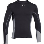 Under Armour Men's Amourstretch ColdGear Hybrid Long Sleeve Mock Top - Black