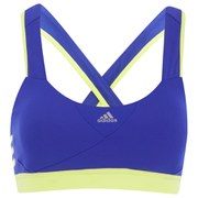 adidas Women's GT Supernova Sports Bra - Blue/Yellow