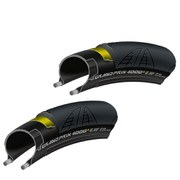 Continental Grand Prix 4000S II Clincher Tyre Twin Pack - Black - 23mm