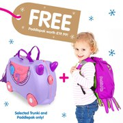 Trunki Bluebell Suitcase with Free Inky PaddlePak
