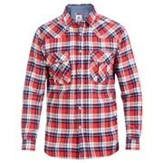 Urban Beach Men's Dear Boy Long Sleeve Checked Shirt - Red