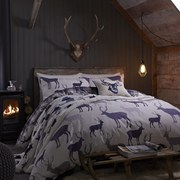 Catherine Lansfield Grampian Stag Brushed Bedding Set - Multi