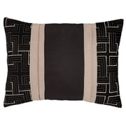 Catherine Lansfield Geo Embellished Cushion - Black