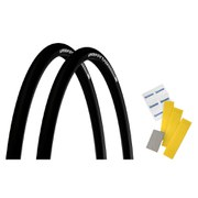 Michelin Pro4 Endurance V2 Clincher Tyre Twin Pack with Free Puncture Repair Kit - Black - 700 x 25c