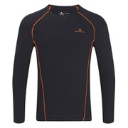 RonHill Men's Vizion Thermal 100 Long Sleeve Top - Black/Orange