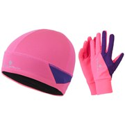 RonHill Beanie and Glove Set - Pink/Wildberry