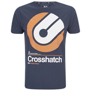 Crosshatch Men's Gazeout Print T-Shirt - Iris Navy
