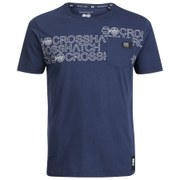 Crosshatch Men's Contour Print T-Shirt - Iris Navy