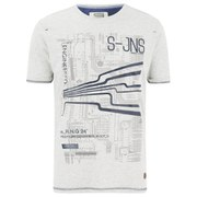 Smith & Jones Men's Dillington Print T-Shirt - Vaporous Grey