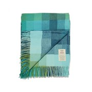 Avoca Spectrum Lambswool Throw - Blue (142cm x 183cm)