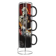IWOOT Exclusive Star Wars The Force Awakens Black First Order 3 Stackable Mugs
