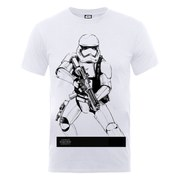 Star Wars Men's The Force Awakens Stormtrooper Ready To Attack T-Shirt - White