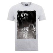 Star Wars Men's The Force Awakens Kylo Ren Collage Poster T-Shirt - Heather Grey
