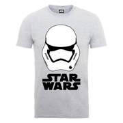 Star Wars Men's The Force Awakens Stormtrooper Helmet White T-Shirt - Heather Grey