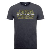 Star Wars Men's The Force Awakens Force Awakens Logo 2 T-Shirt - Tweed