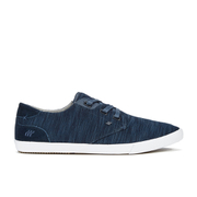 Boxfresh Men's Stern Flecked Mesh Low Top Trainers - Navy/Grey