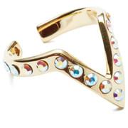 Maria Francesca Pepe Women's Visitors Encrusted Midi Ring - Gold