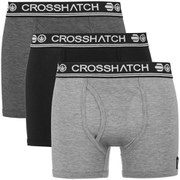 Crosshatch Men's Requisite 3 Pack Boxers - Black/Charcoal