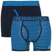 Crosshatch Men's GlowSync 2 Pack Boxers - Malibu Blue