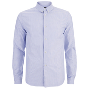 A.P.C. Men's Button Down Shirt - Blue
