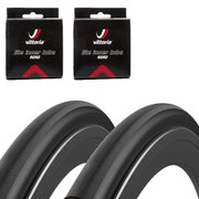 Vittoria Open Pave CG Black Edition Clincher Road Tyre Twin Pack with 2 Free Inner Tubes - Black - 700c x 25mm