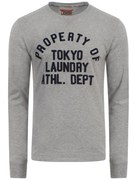 Tokyo Laundry Men's Cicero Long Sleeve Top - Light Grey Marl