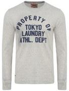Tokyo Laundry Men's Cicero Long Sleeve Top - Oat Grey Marl