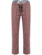 Tokyo Laundry Men's Johnston Small Check Flannel Loungepants - Oxblood