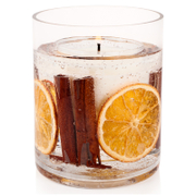 Stoneglow Botanical Collection Natural Wax Vase Candle - Cinnamon and Orange