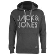 Jack & Jones Men's Scale Hoody - Dark Grey Melange