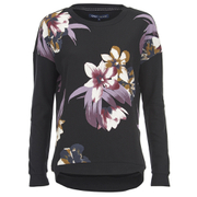 ONLY Women's Blomster Long Sleeve Sweatshirt - Black