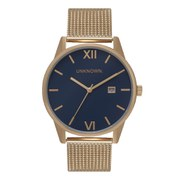 UNKNOWN Men's The Dandy Watch - Navy Dial/Gold Mesh