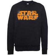 Star Wars Halloween Spider Web Logo Sweatshirt - Black
