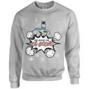 DC Originals Christmas Batman Be Good or Kaboom Kids Sweatshirt - Heather Grey