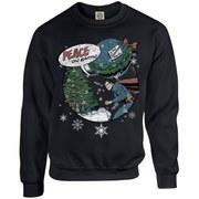 DC Originals Kids' Christmas Superman Peace on Earth Sweatshirt - Black