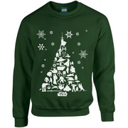 Star Wars Christmas Tree Sweatshirt - Forest Green
