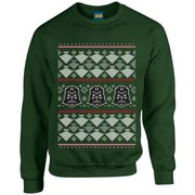 Star Wars Kids' Christmas Darth Vader Imperial Starship Sweatshirt - Forest Green