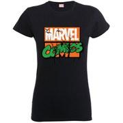 Marvel Women's Comics Halloween Logo Shirt - Black