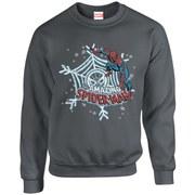 Marvel Kids' Comics Christmas Spider-Man Sweatshirt - Charcoal