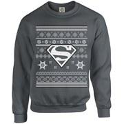 DC Originals Christmas Superman Sweatshirt - Charcoal