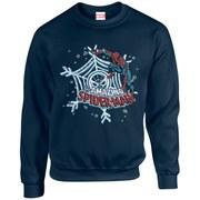 Marvel Comics Christmas Spider-Man Sweatshirt - Navy
