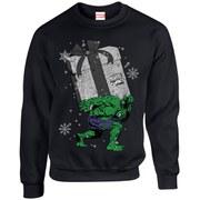 Marvel Kids' Comics Christmas Santa Hulk Sweatshirt - Black