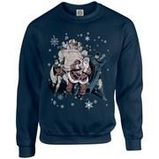 DC Originals Christmas Batman and Robin Santa Claus Kids Sweatshirt - Navy