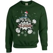DC Originals Christmas Batman Be Good or Kaboom Santa Hat Sweatshirt - Forest Green