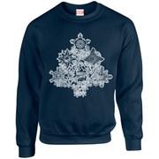 Marvel Comics Christmas Tree Sweatshirt - Navy