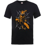 Marvel Men's Ultimate Spider-Man Halloween Shooting T-Shirt - Black