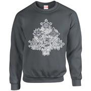 Marvel Kids' Comics Christmas Tree Sweatshirt - Charcoal