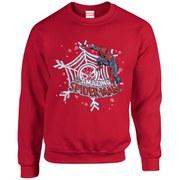 Marvel Kids' Comics Christmas Spider-Man Sweatshirt - Red