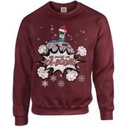 DC Originals Christmas Batman Be Good or Kaboom Santa Hat Sweatshirt - Maroon